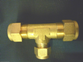 "Compression gas  ""T""15mm X 15mm X10mm  Brass"